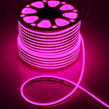 Стрічка світлодіодна NEON 2835P120 12V 6W, рожевий,  IP65, 6-12mm  AVT St-54, 1018085