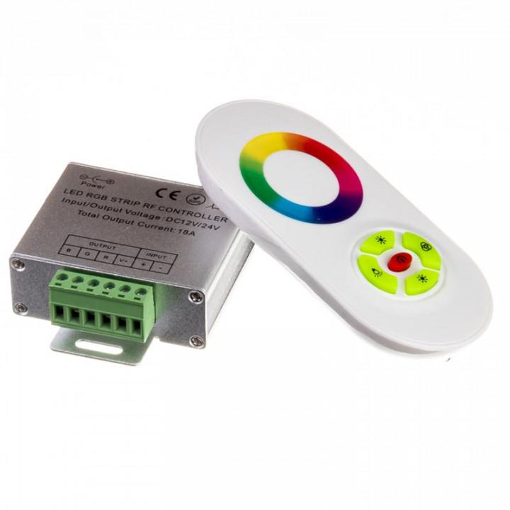 Контролер RGB №55 18A RF. сенсорний пульт, білий 1009634