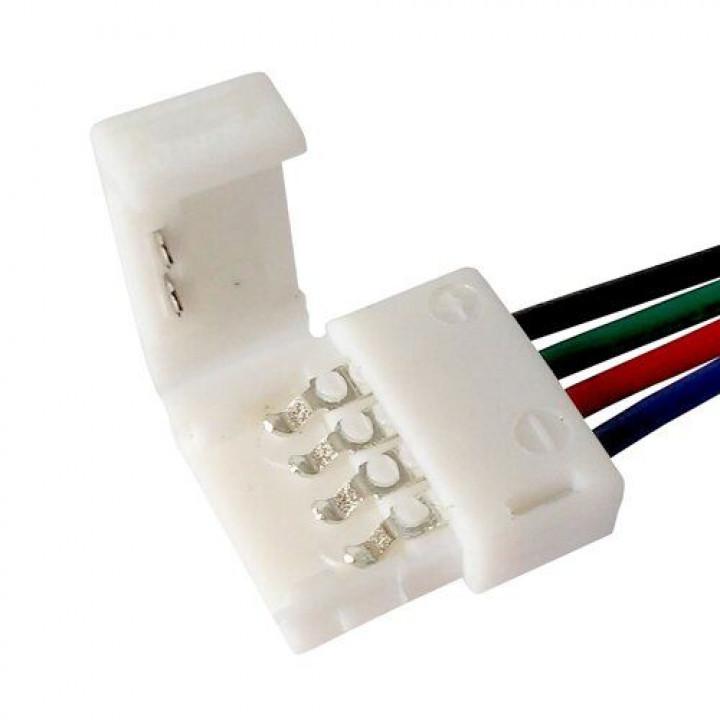 З'єднувач для стрічки RGB, провід+ зажим 4pin, 10мм,  №9, 1012440