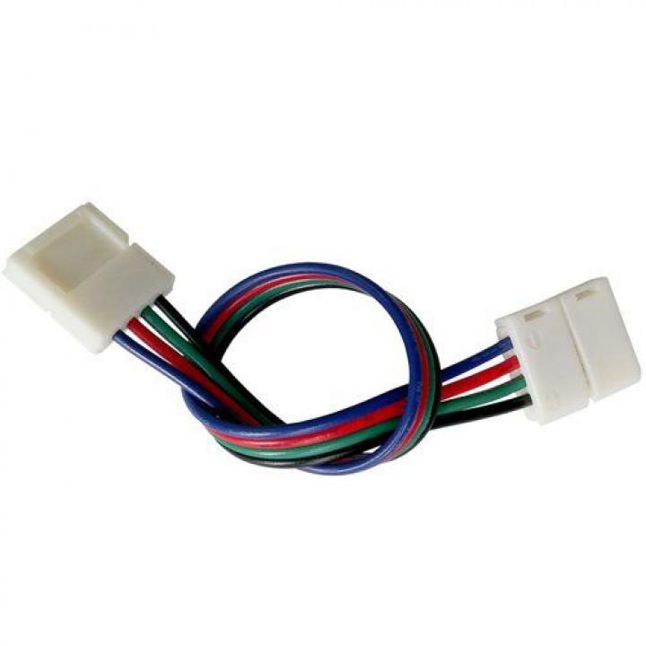 З'єднувач для стрічки RGB, провід+2 конектори 4pin, 10мм, №8, 1012438 (SC-09-SWS-10-4)