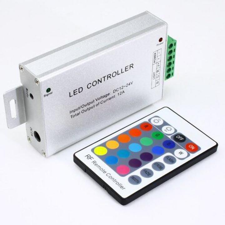 Контролер Biom RGB 12А, 12V, 4A/канал, 24 кнопки, RF