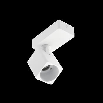 Світильник GTV RENO, алюміній, GU10, IP20, max. 20W,одинарний КВАДРАТ БІЛИЙ LD-REN20WKW1-10