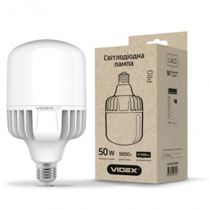 Лампа світлодіодна Videx A118, 50W, E27, 5000K, 4500Lm, 220V VL-A118-50275
