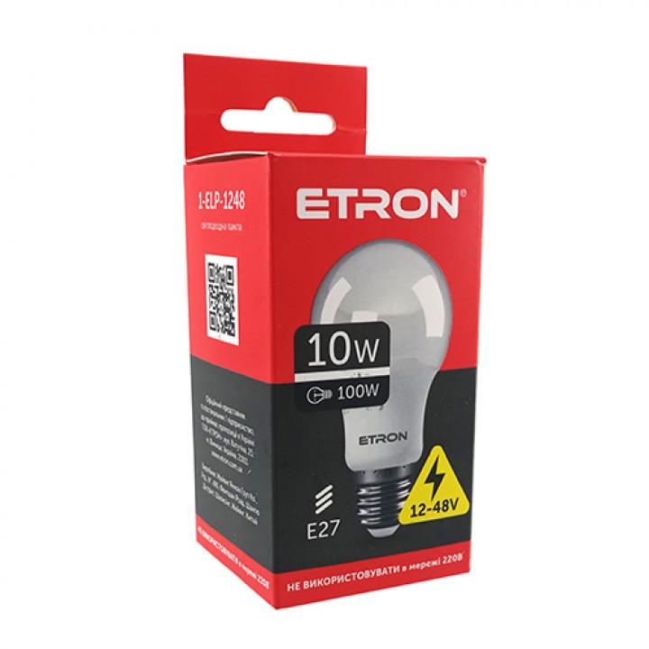 Лампа світлодіодна ETRON Light Power 1-ELP-1248 A60 10W 12-48V E27 4200К