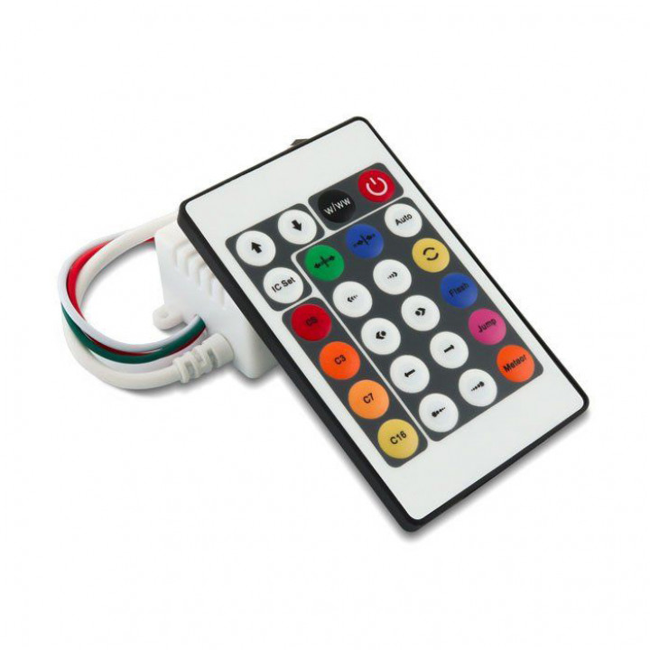 Контролер (для прогр. стр.) Biom, SPI OEM Dream Color IR 24 buttons, (SPI IR 24 but)