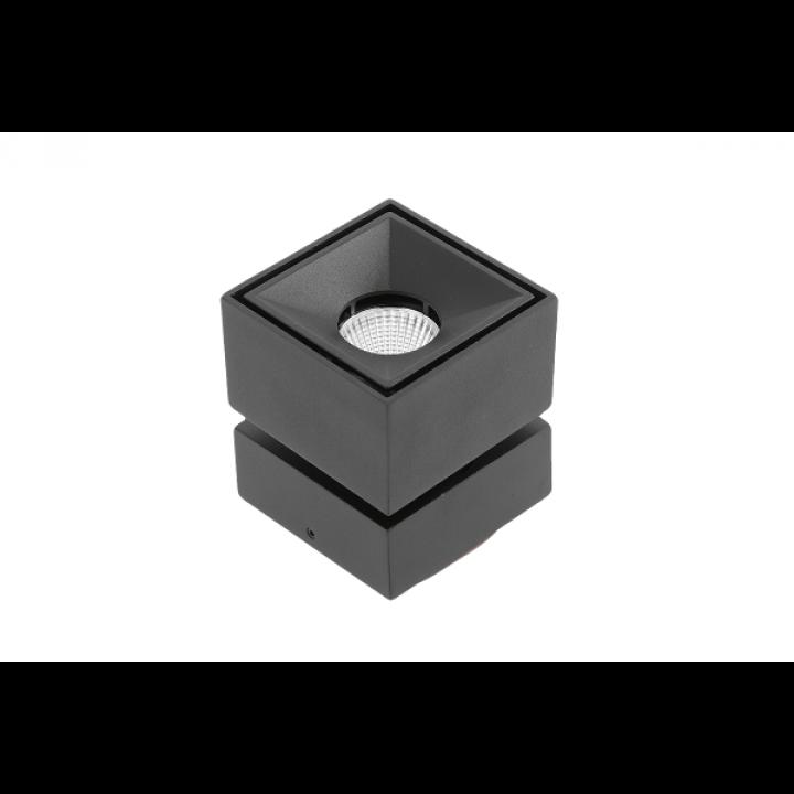 Світильник GTV LED BIANCO, 8W, IP20, 4000K, КВАДРАТ ЧОРНИЙ LD-BNC8WKC-NB