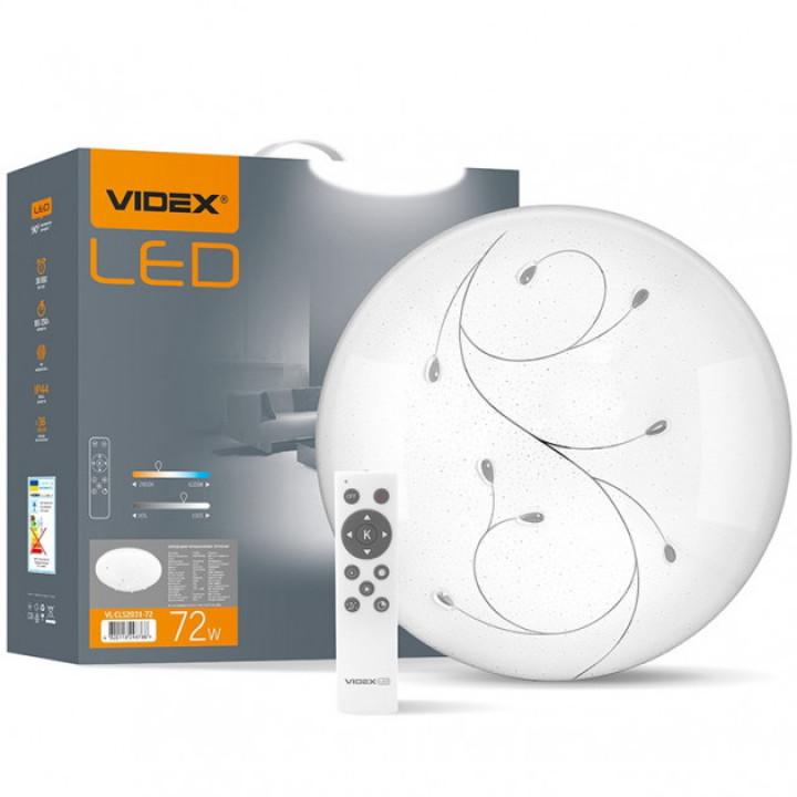 Світильник світлодіодний Videx Функціональний Круглий DROP 72W, 2800-6200K, з пультом 220V, 298788