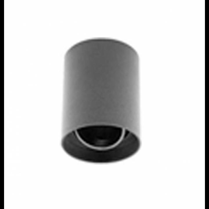 OS-RST80125OK1-00 Світильник стельовий RESTO, PC, 80x125mm, IP20, max.20W, круглий, чорний пластик