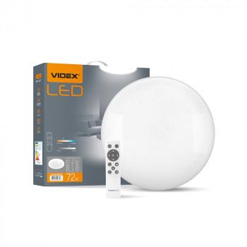 Світильник світлодіодний Videx Функціональний Круглий STAR 72W, 2800-6200K, з пультом 220V 298757