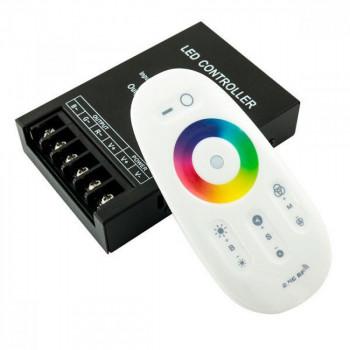 Контролер RGB 30A RF 2.4GHz. сенсорний пульт, білий. BIOM