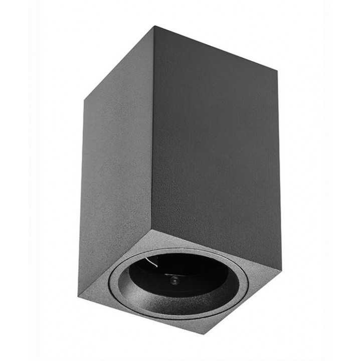 Світильник світлодіодний GTV SENSA MINI, під GU10 max.50W, IP20 чорний, квадрат 70x115