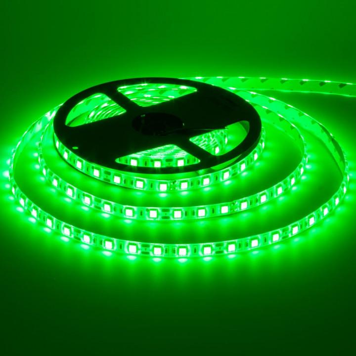 Стрічка світлодіодна SMD 5050, 60d/m, 14.4W/m, 720lm/m, IP65, зелена (5050GF60) St.