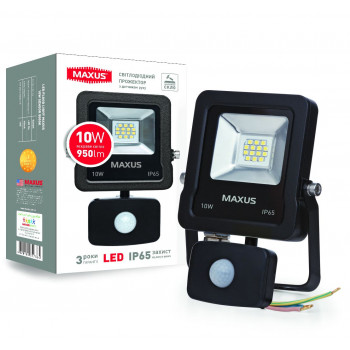 Прожектор Maxus LED FLOOD LIGHT 10W 5000K sensor