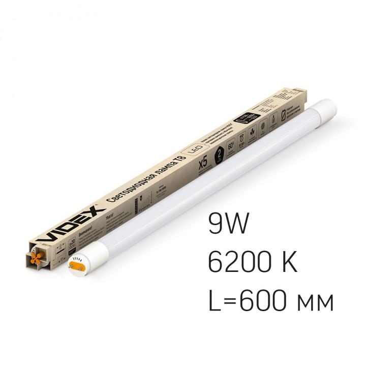 Лампа світлодіодна Videx T8 600 9W 6200K  291956