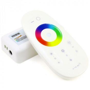 Контролер Biom RGBW 24A RF. сенсорний пульт, білий  24A-2.4G-Touch белый (6A*4 канала)