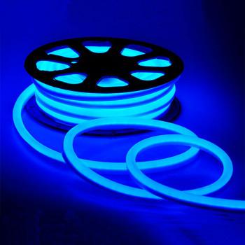 #54-B AVT- NEON 2835B120 12V 6W, синій,  IP65, 6-12mm, 1018083