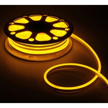 Стрічка світлодіодна NEON 2835Y120 12V 6W/m, жовтий,  IP65, 8-16mm  AVT St-55 1018096
