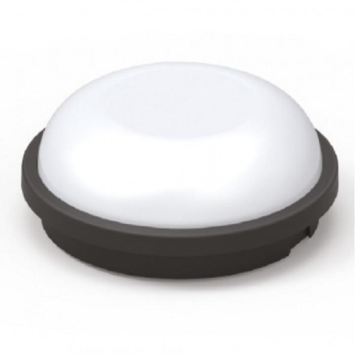 Світильник світлодіодний Horoz Артос 15W 6400K ЧОРНИЙ круг IP65 400.012.127