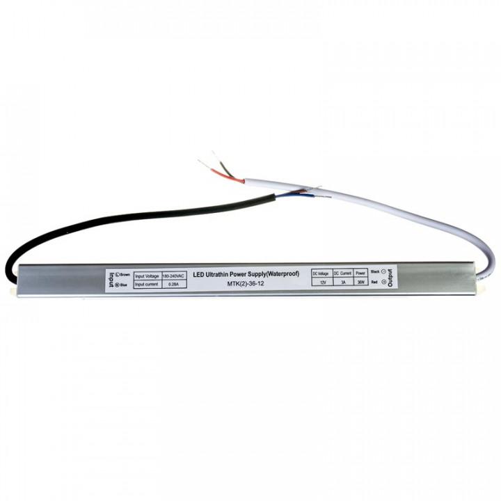 Блок живлення герметичний 36W, 12V, 3A slim IP67 1013409