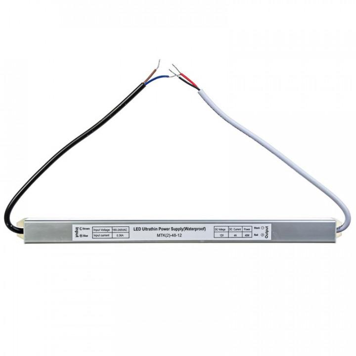 Блок живлення герметичний 48W, 12V, 4A slim IP67  1013419