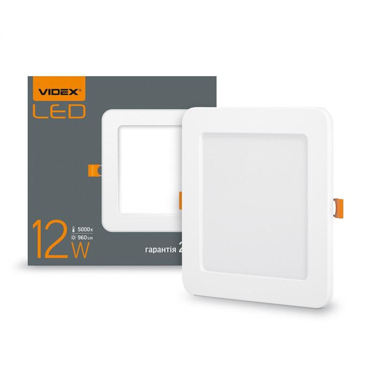 Світильник світлодіодний стельовий VIDEX 12W 960Lm 5000K квадрат 220V VL-DLS-125