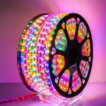 Стрічка світл. 2835-48 MultiColor, 6W/m, 6mm, 220V, IP65, #12, 1017840