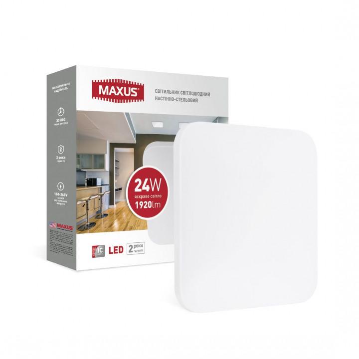 Світильник світлодіодний Maxus Ceiling light 1-MCL-2441-01-S 24W 4100K Квадрат
