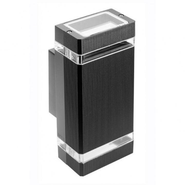 Світильник фасадний двонпр. GTV NESSA, GU10, MAX.2x50W, IP54, чорний LD-NESSAGU10D-20