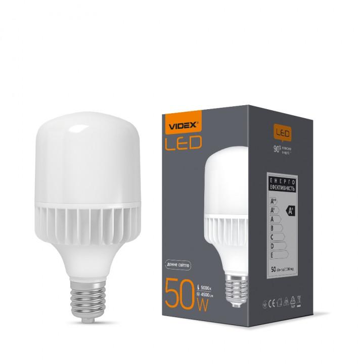 ЛАМПА LED A118 50W E40 5000K 220V VIDEX, (294186)