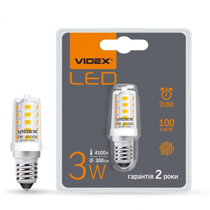 Лампа світлодіодна Videx ST25e 3W E14  4100K 220V, (295718)