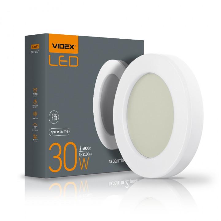Світильник світлодіодний Videx ART(ЖКХ) круглий 30W 5000K 220V IP65, (299150)