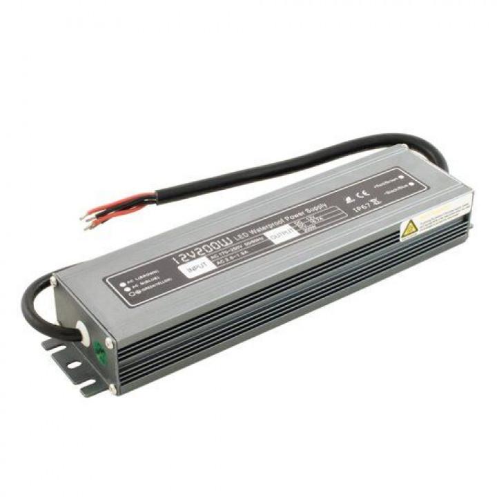 Блок живлення герметичний 12V 200W IP67 Prof BIOM WBP-200
