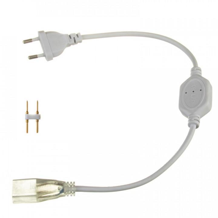 #15/1 Адаптер живлення для стрічки світлодіодної 5mm+конектор 120-3014 220V IP65 1017862