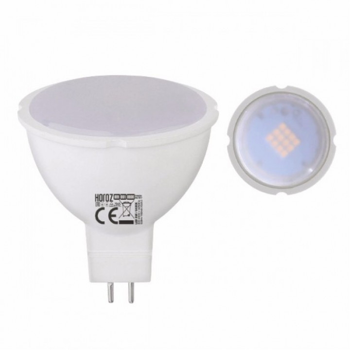 Лампа світлодіодна Horoz Fonix-8 MR16 8W 3000K 220V GU5.3