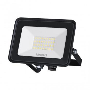 1-MFL-04-3050, Прожектор MAXUS FL-04, 30W, 5000K Black