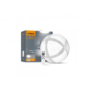 Світильник світлодіодний Videx Функціональний Круг GLANZ 72W 2800-6200K IP44,з пультом 220V  298764