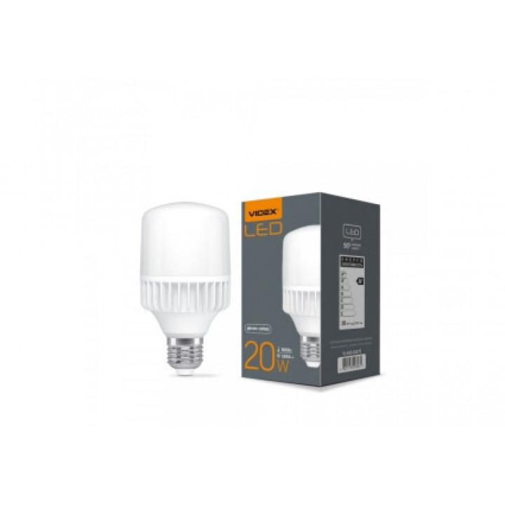 Лампа світлодіодна Videx A65, 20W, E27, 5000K, 1800Lm, 220V VL-A65-20275   (298061)