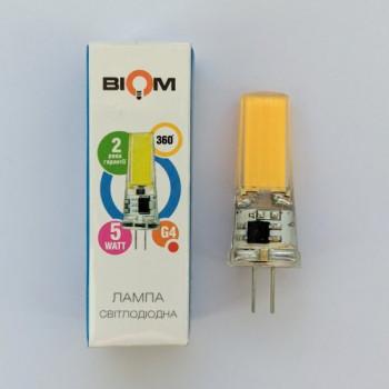 Лампа світлодіодна Biom G4 5W 2508 220V 4000K