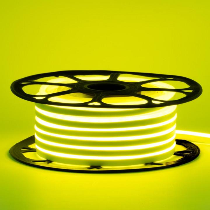 Стрічка світлодіодна NEON 2835LY120 12V 8 W/M, ЛИМОННИЙ ЖОВТИЙ,  IP65, 8-16mm  AVT St-55, 1018101