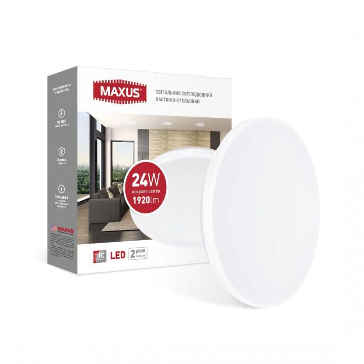 Світильник світлодіодний Maxus Ceiling light 1-MCL-2441-01-C 24W 4100K КРУГ