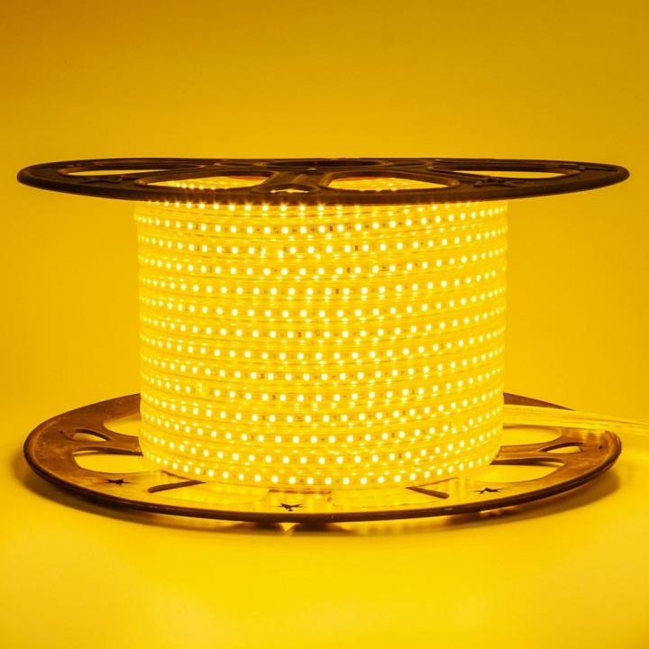 Стрічка світлодіодна #10-Y AVT 2835Y120, ЖОВТИЙ  6W/m, 5mm, 220V, IP65, St-10  1017822