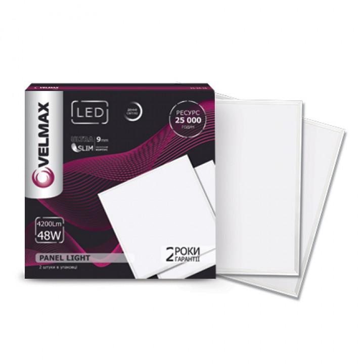 Світильник світлодіодний Velmax V-UPS 48W 4200Lm 6200K 595*595 з блоком живлення   25-24-28