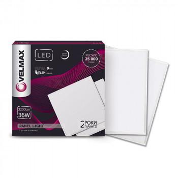 Світильник світлодіодний Velmax V-UPS 36W 3200Lm 6200K 595*595 з блоком живлення 25-24-16