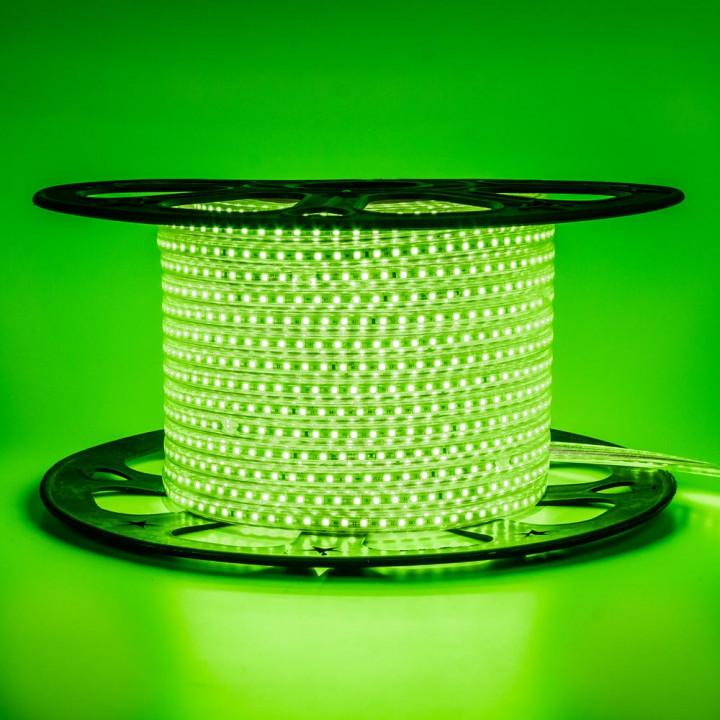Стрічка світлодіодна 2835G120  220V IP65 St-10 зелена