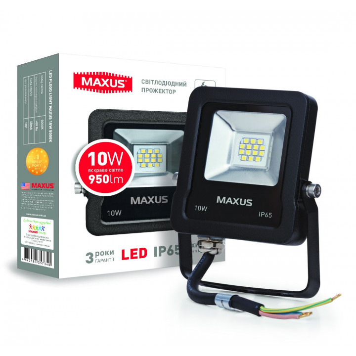 Прожектор Maxus LED FLOOD LIGHT 10W 5000K, 1-MAX-01-LFL-1050