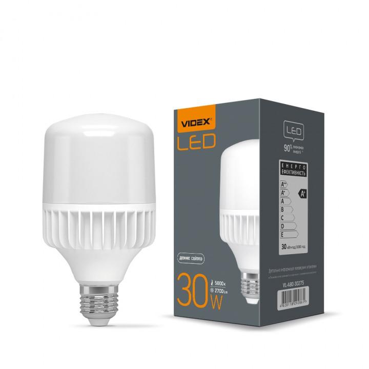 Лампа світлодіодна VIDEX A80 30W 5000K 220V E27 VL-A80-30275, (292861)