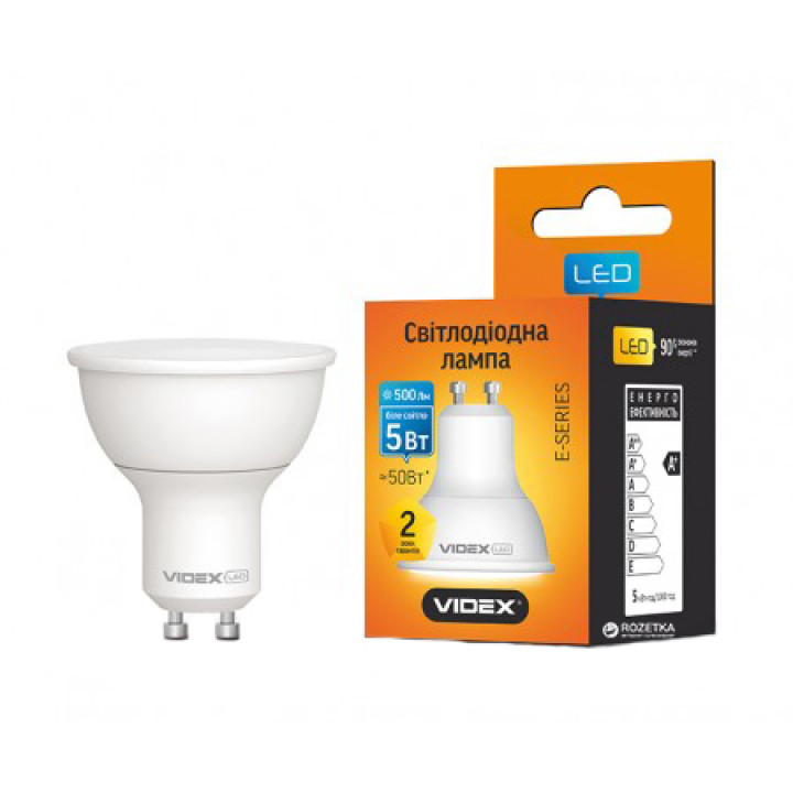 Лампа світлодіодна VIDEX MR16e 5W GU10 4000K 220V