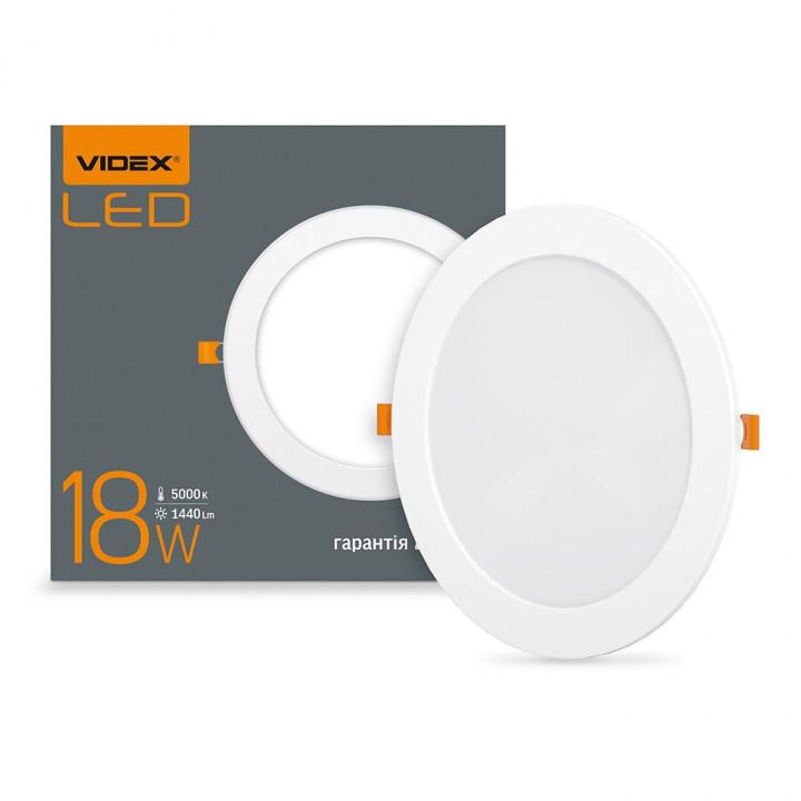 Світильник світлодіодний стельовий VIDEX 18W 1440Lm 5000K круг 220V (294070)