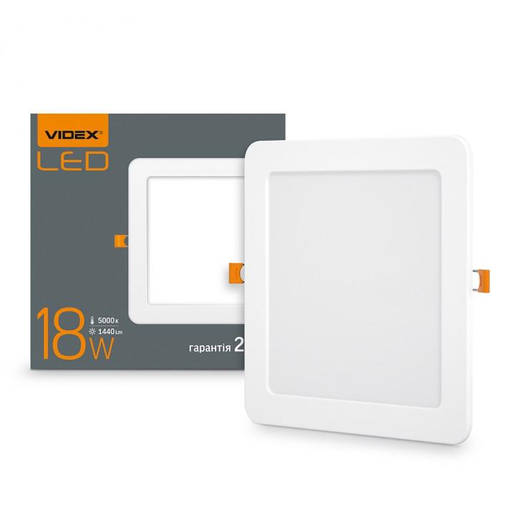 Світильник світлодіодний стельовий VIDEX 18W 1440Lm 5000K квадрат 220V  (294087)