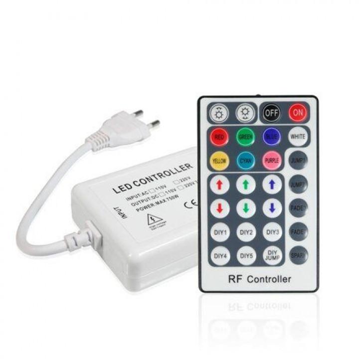Контролер для стрічки світлодіодної 5050RGB60 800W-RF-28 220V IP68 BIOM
